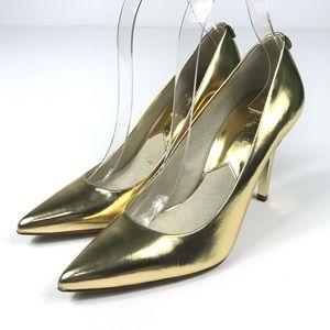Michael Kors Gold Heels Size 7M